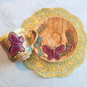Vtg Butterfly cup